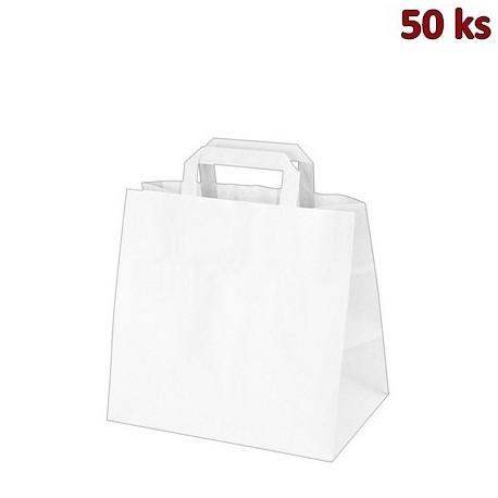 Papírové tašky 32x21 x 27 cm bílé [50 ks]