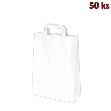 Papírové tašky 26 x 12 x 36 cm bílé [50 ks]