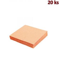 Papírové ubrousky apricot 33 x 33 cm 3-vrst [20 ks]
