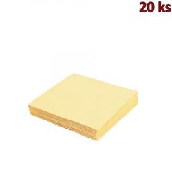 Papírové ubrousky béžové 33 x 33 cm 3-vrst [20 ks]