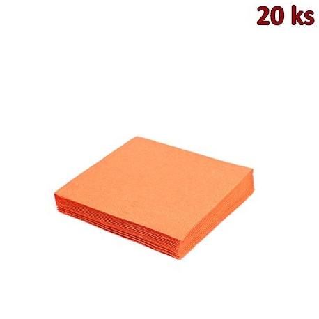 Papírové ubrousky oranžové 33 x 33 cm 3-vrst [20 ks]