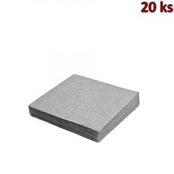 Papírové ubrousky šedé 33 x 33 cm 3-vrst [20 ks]
