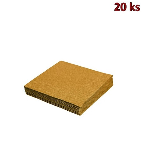 Ubrousky 3-vrstvé, 33 x 33 cm zlaté [20 ks]