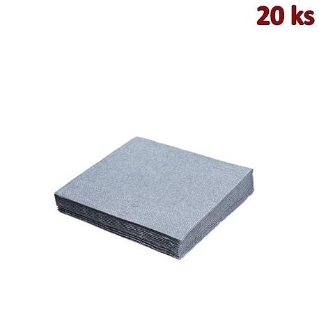 Ubrousky 3-vrstvé, 33 x 33 cm stříbrné [20 ks]