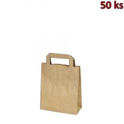 Papírové tašky 18 x 8 x 22 cm hnědé [50 ks]