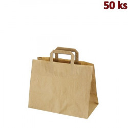 Papírové tašky 32 x 16 x 27 cm hnědé [50 ks]