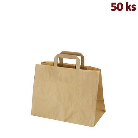 Papírové tašky 32 x 17 x 25 cm hnědé [50 ks]
