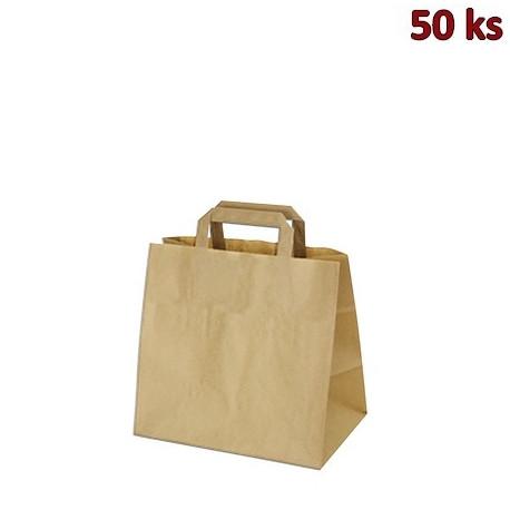 Papírové tašky 26 x 17 x 25 cm hnědé [50 ks]