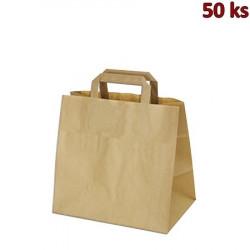 Papírové tašky 32 x 21 x 33 cm hnědé [50 ks]