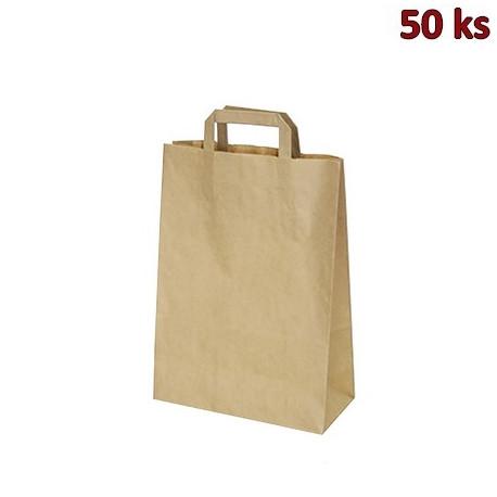 Papírové tašky 22 x 10 x 28 cm hnědé [50 ks]