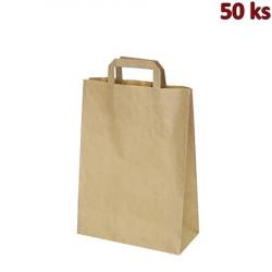 Papírové tašky 26 x 12 x 36 cm hnědé [50 ks]