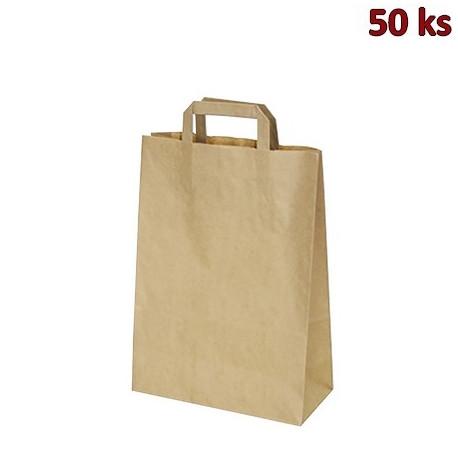 Papírová taška hnědá 26 x 14 x 32 cm [50 ks]