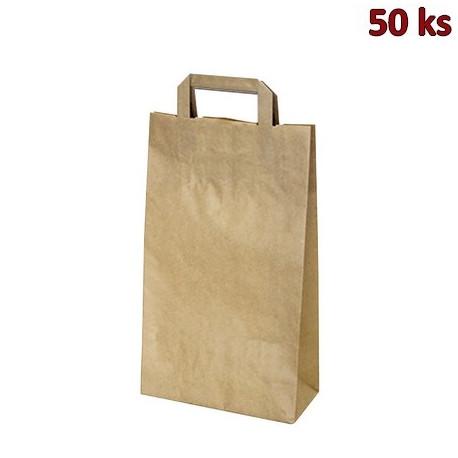 Papírové tašky 22 x 10 x 38 cm hnědé [50 ks]