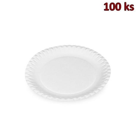 Papírové talíře mělké Ø 23 cm nepromastitelné [100 ks]