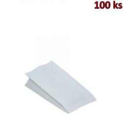 Papírové sáčky nepromastitelné bílé 10,5+5,5 x 24 cm [100 ks]