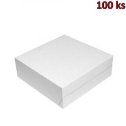 Krabice na dort z vlnité lepenky 28 x 28 x 10 cm [100 ks]