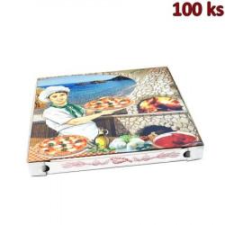 Krabice na pizzu z vlnité lepenky 40 x 40 x 4 cm [100 ks]