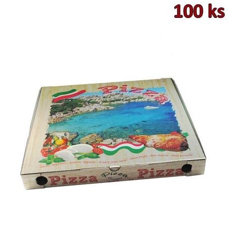 Krabice na pizzu z vlnité lepenky 50 x 50 x 5 cm [100 ks]