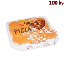 Krabice na pizzu z vlnité lepenky 26 x 26 x 3 cm [100 ks]