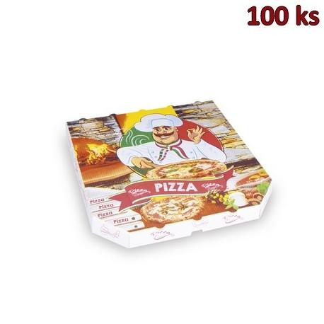 Krabice na pizzu extra pevná 30 x 30 x 3 cm [100 ks]