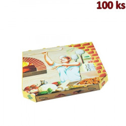 Krabice na pizzu extra pevná 32 x 32 x 3 cm [100 ks]