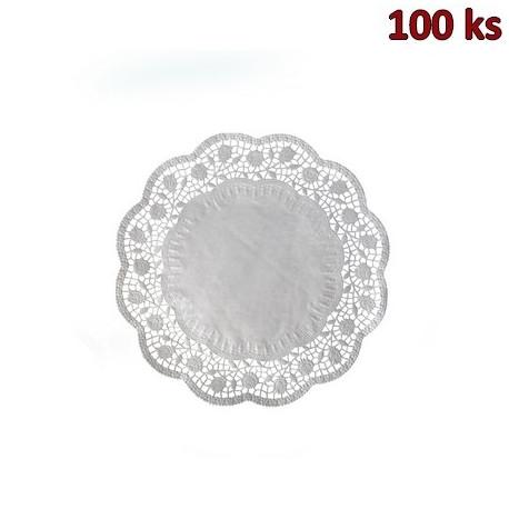 Dekorativní krajky kulaté Ø 22 cm [100 ks]