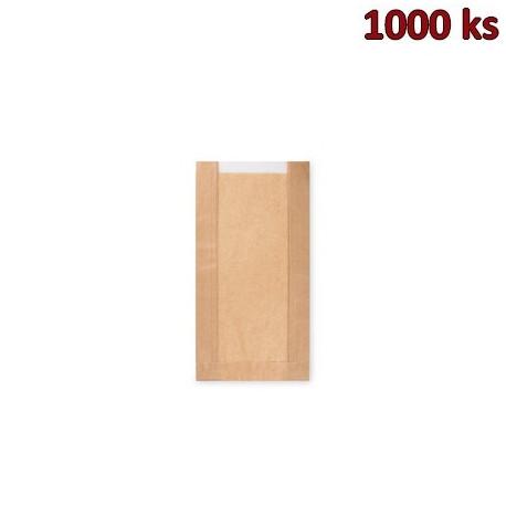Papírové sáčky na pečivo s okénkem - malé (15+6 x 29 cm, ok.10 cm) [1000 ks]