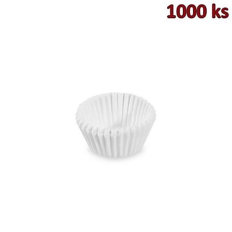 Cukrářské košíčky bílé Ø 26 x 16 mm [1000 ks]
