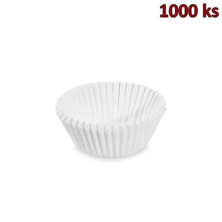 Cukrářské košíčky bílé Ø 35 x 20 mm [1000 ks]