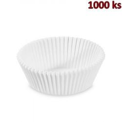 Cukrářské košíčky bílé Ø 60 x 27 mm [1000 ks]
