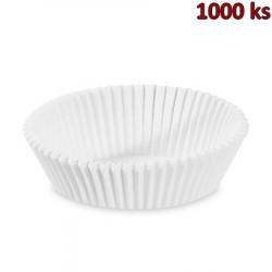 Cukrářské košíčky bílé Ø 70 x 20 mm [1000 ks]