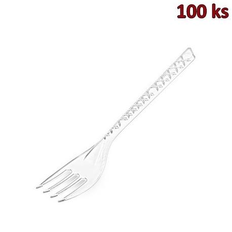 Vidlička pevná, průhledná 17,5 cm [100 ks]