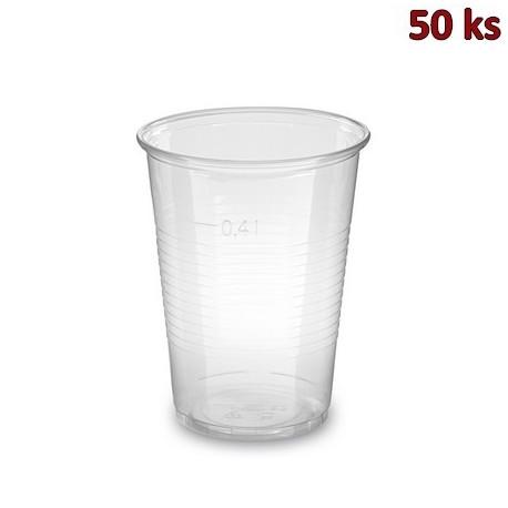 Plastový kelímek průhledný 0,4 l PP (Ø 95 mm) [50 ks]