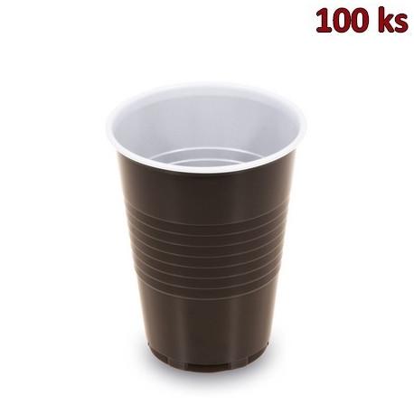 Automatový kelímek hnědo-bílý 0,18 l PS (Ø 70mm)[100 ks]