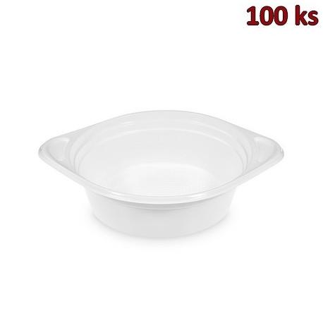 Plastová miska na polévku bílá PP 500 ml [100 ks]