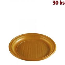 Plastový talíř zlatý PS Ø 22 cm [30 ks]