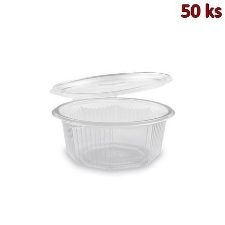 Plastová miska osmiboká s víčkem 750 ml PP [50 ks]