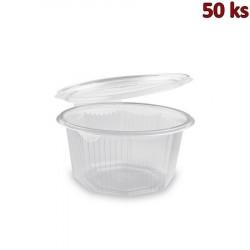 Plastová miska osmiboká s víčkem 1000 ml PP [50 ks]