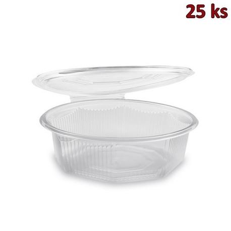 Plastová miska s víčkem osmiboká 1500 ml PP [25 ks]