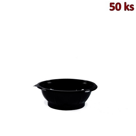 Salátová miska černá 600 ml PET [50 ks]