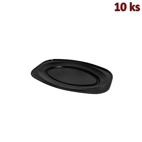 Podnos oválný černý 35 x 24,7 cm EPS [10 ks]