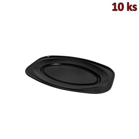 Podnos oválný černý 45 x 30,5 cm EPS [10 ks]
