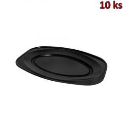 Podnos oválný černý 55 x 36 cm EPS [10 ks]