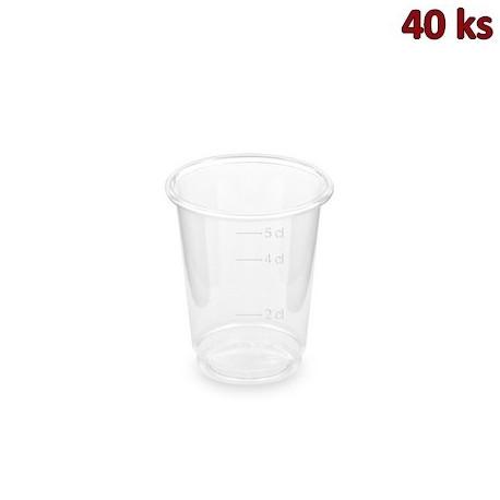 PET kelímek čirý 2 cl / 4 cl / 5 cl (Ø 48 mm) [40 ks]