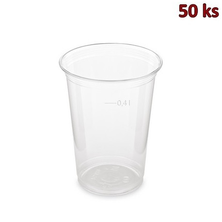 PET kelímek 0,4 l (Ø 95 mm) [50 ks]