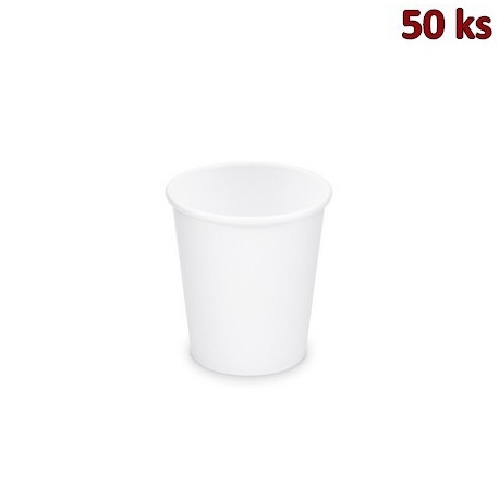 Papírový kelímek bílý 200 ml, S (Ø 73 mm) [50 ks]
