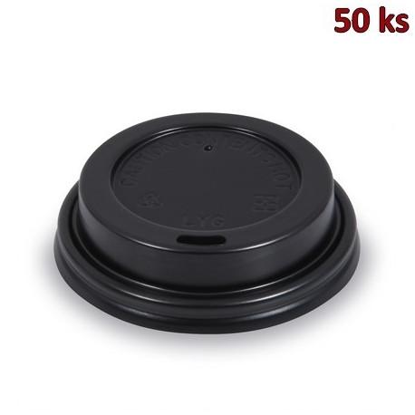 Víčko vypouklé černé pro papírové kelímky Ø 73 mm [100 ks]