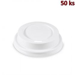 Víčko vypouklé bílé pro kelímky Ø 73 mm [100 ks]