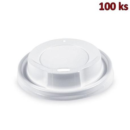 Víčko vypouklé bílé pro kelímky Ø 80 mm [100 ks]