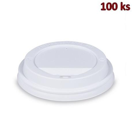 Víčko vypouklé bílé pro kelímky Ø 90 mm [100 ks]